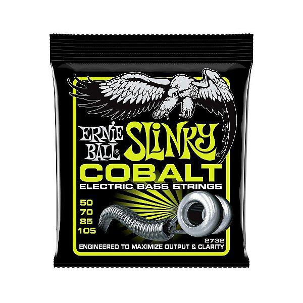 Encordoamento de Contrabaixo 4 Cordas Ernie Ball 050. Cobalt Regular Slinky