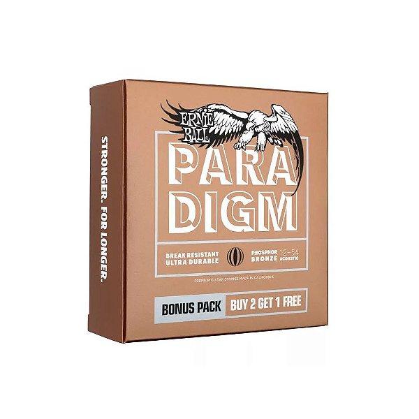 Encordoamento Violão Ernie Ball 012. (Pack 3) Paradigm Phosphor Bronze Med. Light