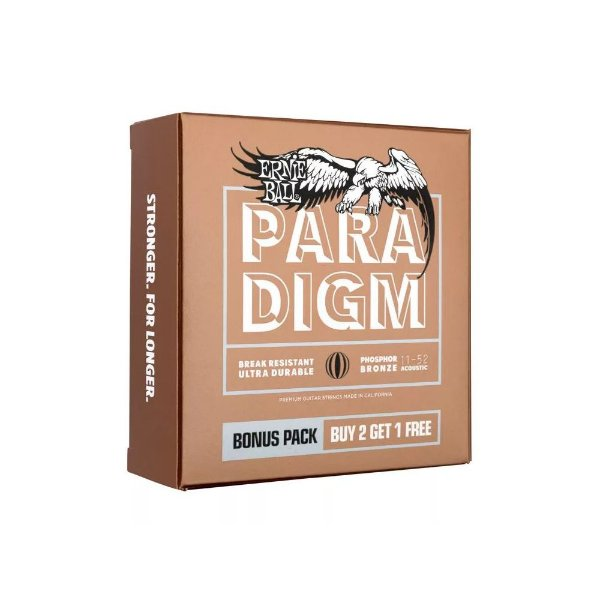 Encordoamento Violão Ernie Ball 011. (Pack 3) Paradigm Phosphor Bronze Light