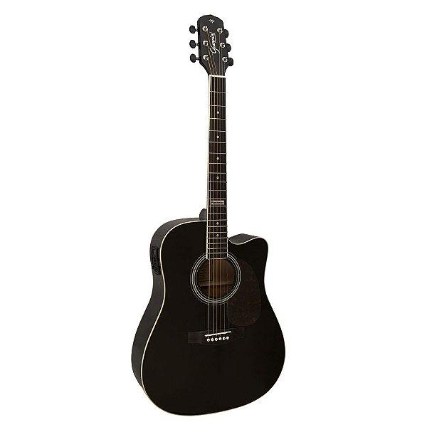 Violão Folk Eletroacústico Giannini Cutaway GF-1D Black