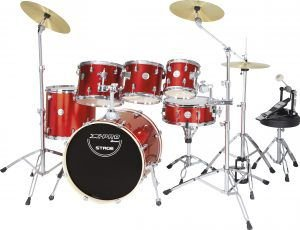 """Bateria Xpro Stage Special-Vermelha-T08/10/12""""-S14""""-B20"""""""