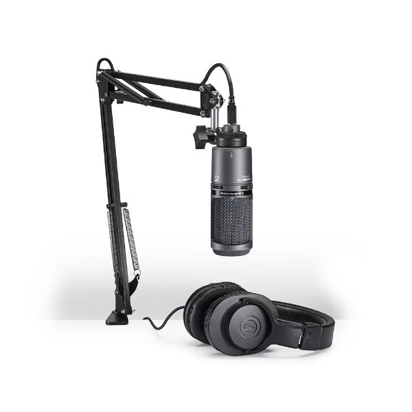 Kit Streaming e Podcasting Audio Technica AT 2020 USB+PK