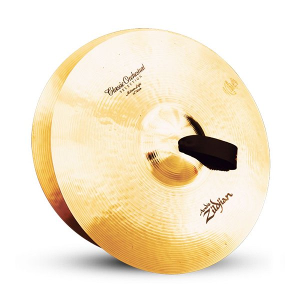 "Par de Pratos Zildjian Classic Orchestral Medium Light 16"" A0751"