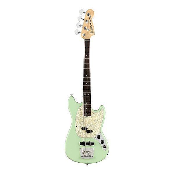 Contrabaixo Fender Am Performer Mustang Bass Rw Satin Surf Green