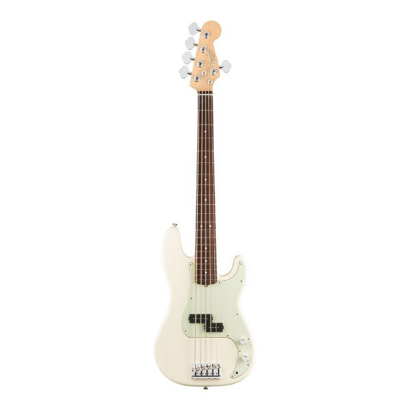 Contrabaixo Fender Am Professional Precision Bass V Rosewood Olympic White