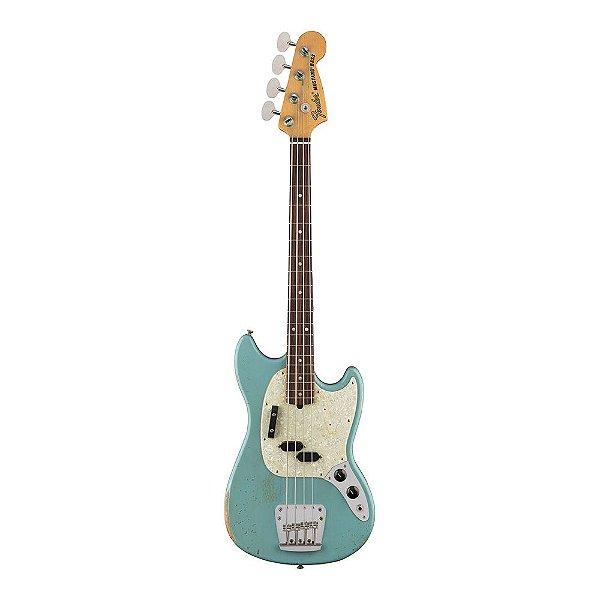 Contrabaixo Fender Sig Series JMJ Road Worn Mustang Bass Fade Daphne Blue