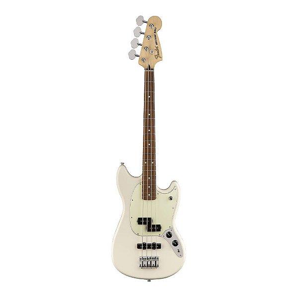 Contrabaixo Fender Offset Mustang Bass PJ PF Olympic White