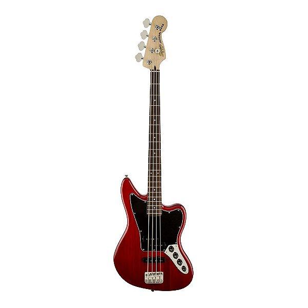 Contrabaixo Squier Vintage Modified Jaguar Bass Special LR C. Red Transp