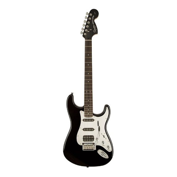 Guitarra Squier Black And Chrome Strat HSS LR Black Mirror