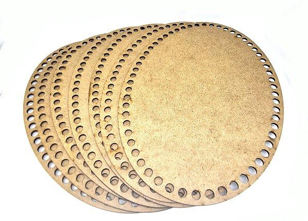 Fios Kiki - Base de MDF para Crochê - 3 mm - oval - 21 x 30 cm