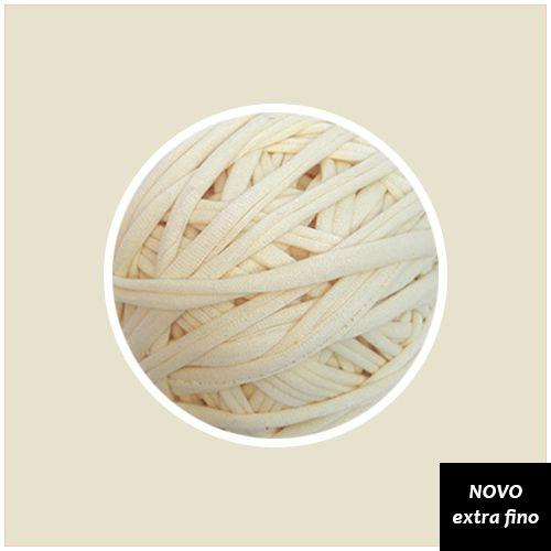 Fio de malha Premium Extrafino - Off White (nova tonalidade Cru) 130m - aprox. 350gr