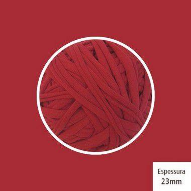 OUTLET - Fio de Malha Premium 23 mm - Vermelho Escuro - 340 gr