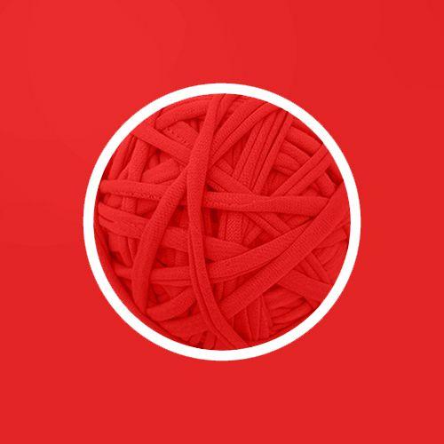 OUTLET - Fio de Malha Premium 23 mm - Vermelho Branca de Neve - 328 gr