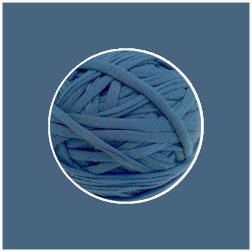 OUTLET - Fio de Malha Premium 23 mm - Azul Jeans Lavado - 350 gr
