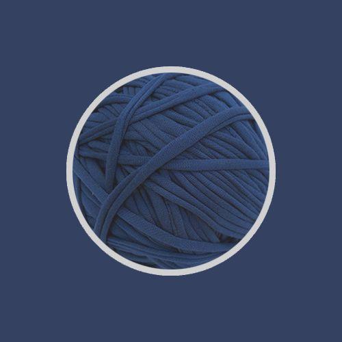 OUTLET- Fio de Malha Premium 23 mm - Azul Jeans Escuro Classic Blue - 396gr