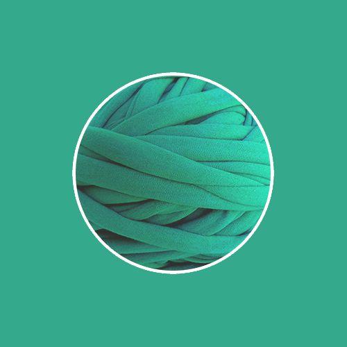 OUTLET  Fio de Malha Premium 23mm - Verde Hortelã - aprox. 358gr