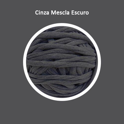 OUTLET  Fio de Malha Premium 23mm - Cinza Mescla Escuro - aprox. 424gr