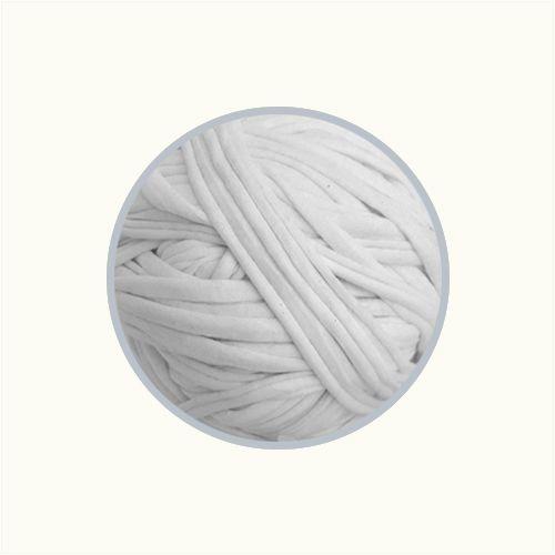 OUTLET  Fio de Malha Premium 23mm - Branco - aprox. 426gr