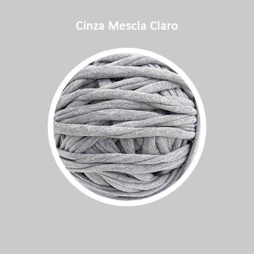 OUTLET  Fio de Malha Premium 33mm - Cinza Mescla Claro - aprox. 404gr