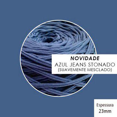 OUTLET  Fio de Malha Premium 23mm - Azul Jeans Stonado - aprox. 348gr