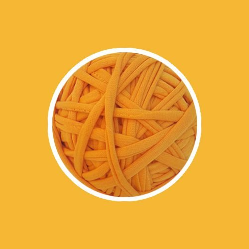 OUTLET  Fio de Malha Premium Fio 23mm - Amarelo Ouro - aprox. 396gr