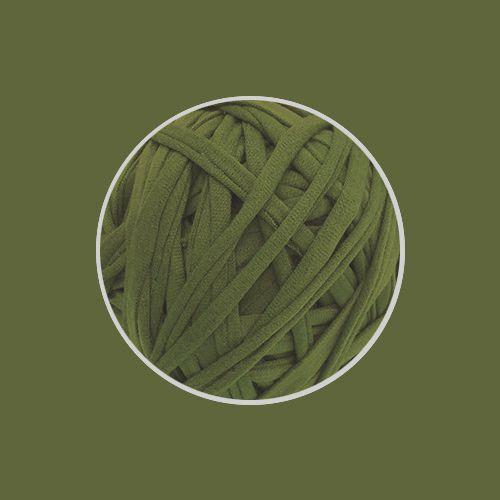 OUTLET  Fio de Malha Premium Fio 23mm - Verde Oliva - aprox. 454gr