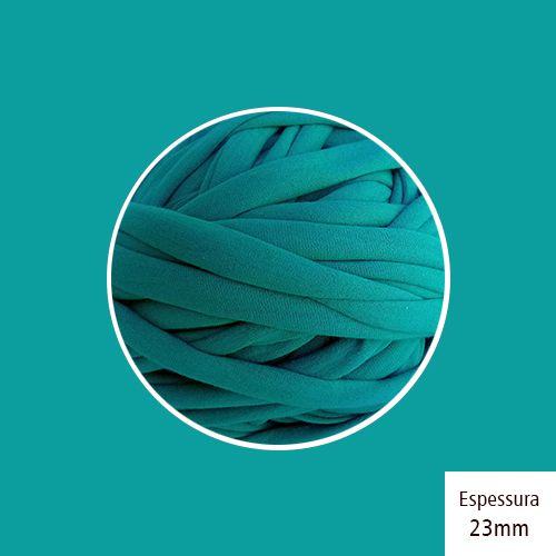 OUTLET - Fio de Malha Premium 23mm - Turquesa Escuro - 372gr