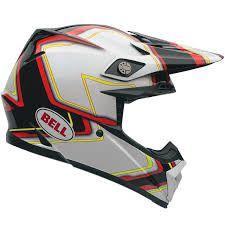 Capacete BELL Moto-9 Pace Preto e Branco