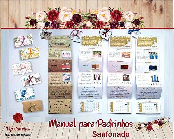 Manual Padrinhos Sanfonado  (MÍNIMO 10 UNIDADES)