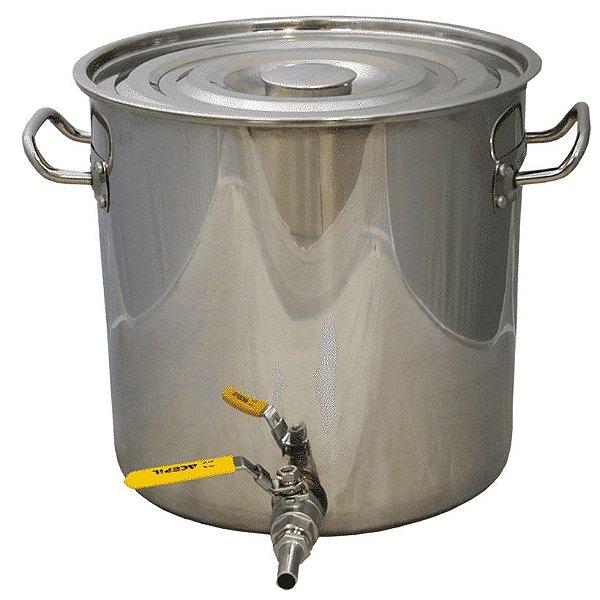 Panela em Inox para Fabricação de Cerveja - 32 Litros