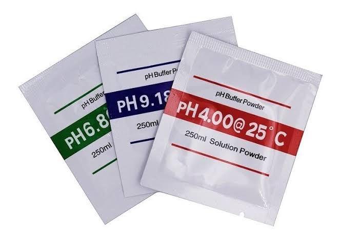 Kit 3 Sachê Solução Calibração Ph Calibragem 4.01_6.86_9.18