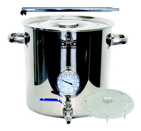 Panela Cerveja Inox 48l C/ Válvula Fundo Falso E Chuveiro