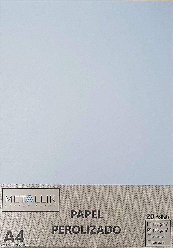 Papel perolado A4 Liso Azul