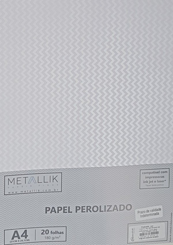 Papel perolado A4 Mini Chevron Branco