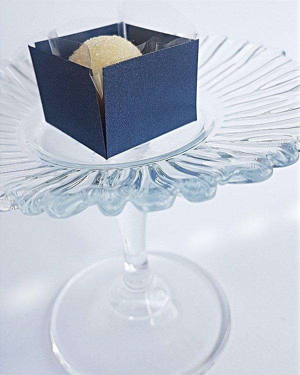 Forminha para Doce (3,5 x 3,5) Liso (colorido na massa) Azul Noite