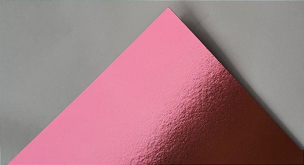 Papel Laminado A4 Liso Rosa 180g