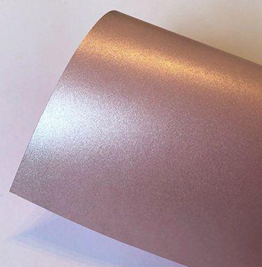 Papel perolado A4 colorido na massa liso Rosé