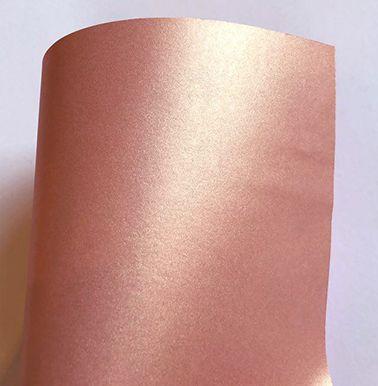 Papel perolado A4 colorido na massa liso Rosé Gold