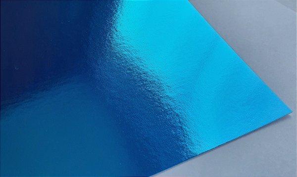 Papel Laminado A4 Liso Azul 250g