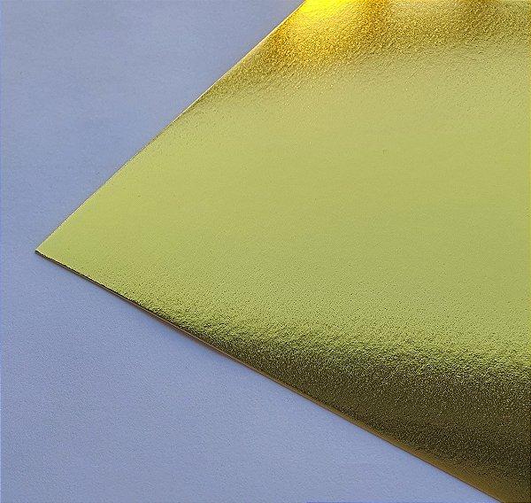 Papel Laminado A4 Liso Ouro 250g