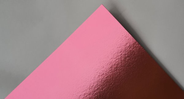 Papel Laminado A4 Liso Rosa 250g