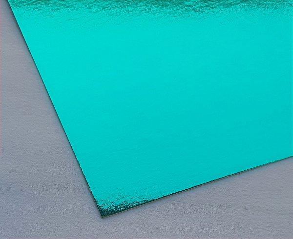Papel Laminado A4 Liso Verde 250g