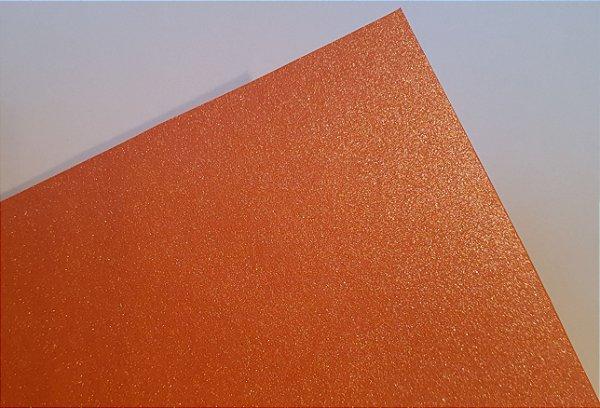 Papel perolado A4 colorido na massa liso Cenoura