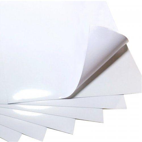 Papel fotográfico adesivo brilhante A4 - 135g - 20 folhas