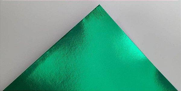 Papel Laminado A4 Liso Verde Escuro 250g