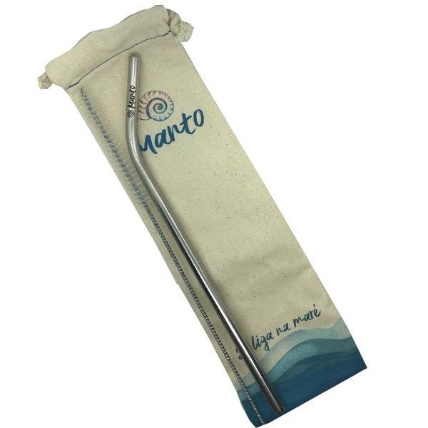 Kit Canudo Reutilizável Ø 7,5mm curvo