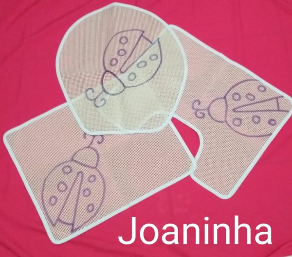 Jogo de Banheiro Joaninha - 03 peças (escolha a técnica)