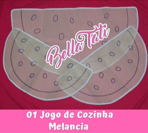 Jogo de Cozinha Melancia - 03 peças