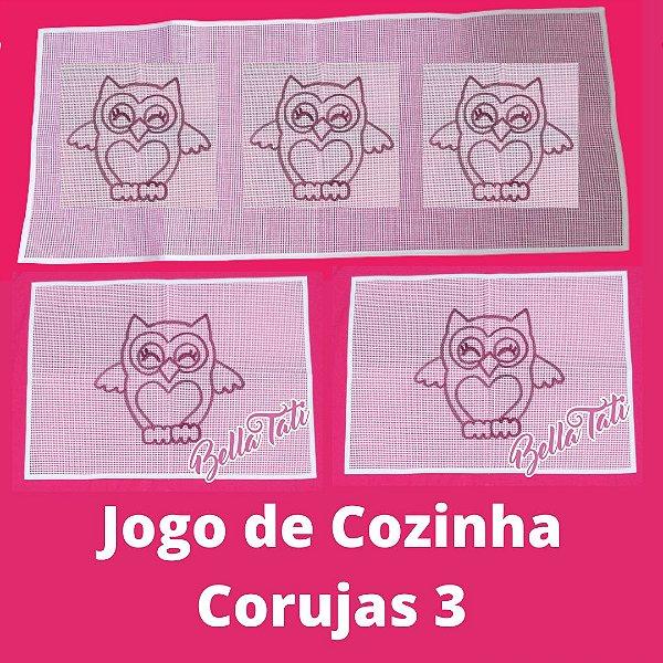 Jogo de Cozinha Coruja - 03 peças