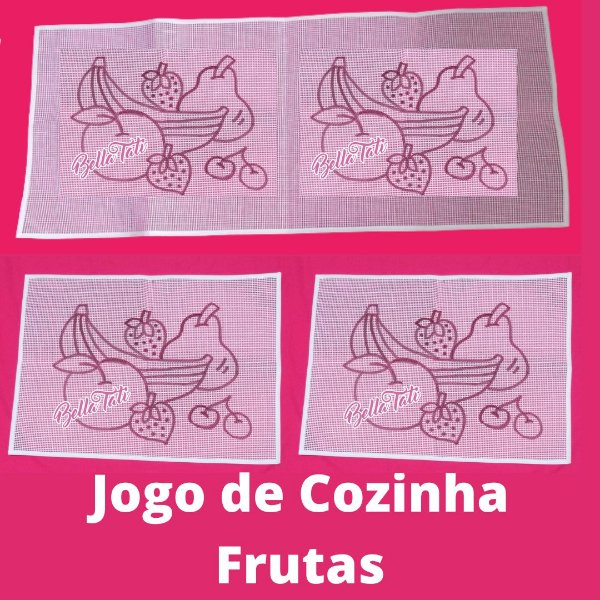 Jogo de Cozinha Frutas - 03 peças